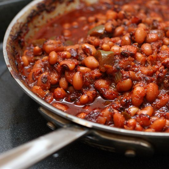 Barbecued Black-Eyed Peas. Try this overnight in the crockpot. Melt in your mouth buttery texture!