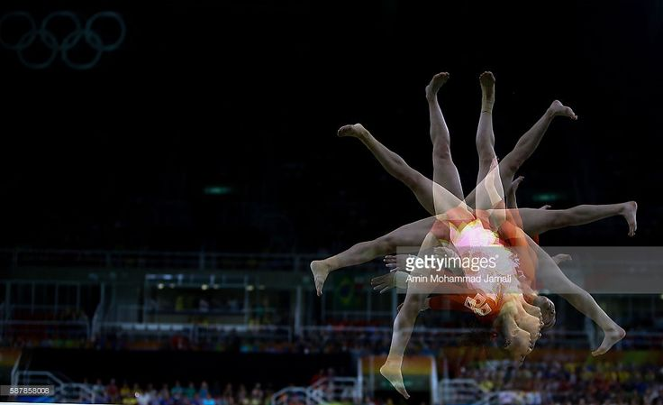 (EDITORS NOTE: Multiple Exposures have been combined in camera.) Lieke Wevers of the Netherlands competes on the balance beam during the Artistic Gymnastics Women's Team Final on Day 4 of the Rio 2016 Olympic Games at the Rio Olympic Arena on August 9, 2016 in Rio de Janeiro, Brazil.   (Photo by Amin Mohammad Jamali/Getty Images)