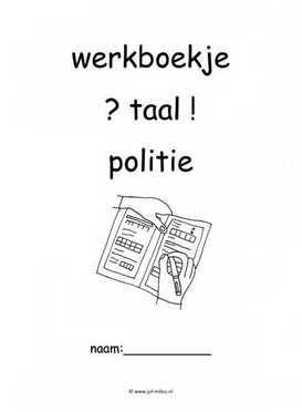 Werkboekje taal politie 1