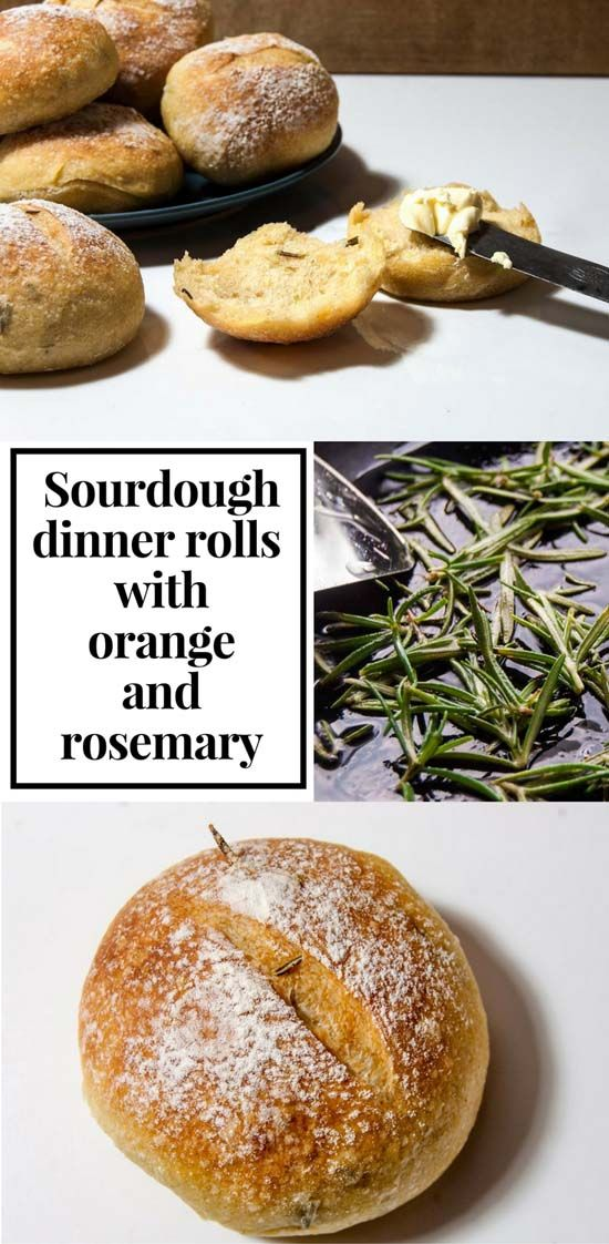 Small, delicate sourdough dinner rolls with a taste of rosemary and just a hint of orange. A perfect compliment to all sort of dishes.