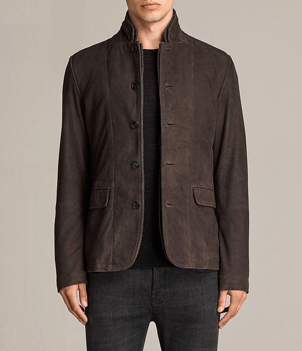 Men's Shorley Suede Blazer (charcoal/grey) - Image 1
