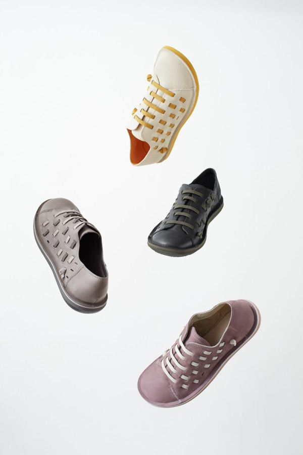 nendo redesigns Camper's Beetle shoe. Using laces as art.