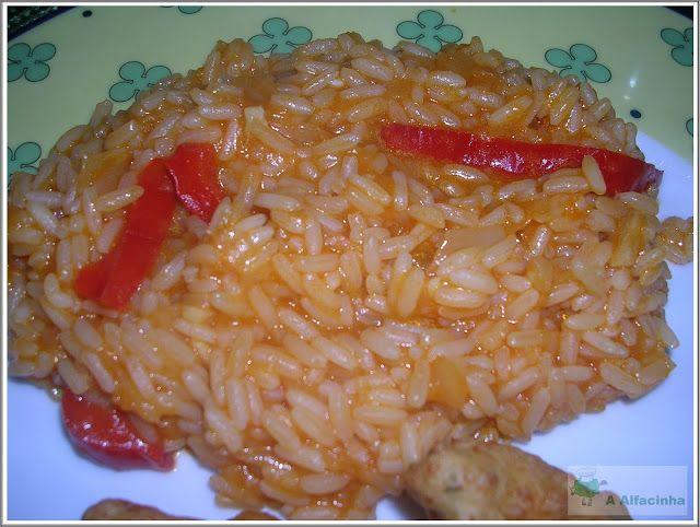 A Alfacinha: Arroz malandrinho de tomate e pimentos