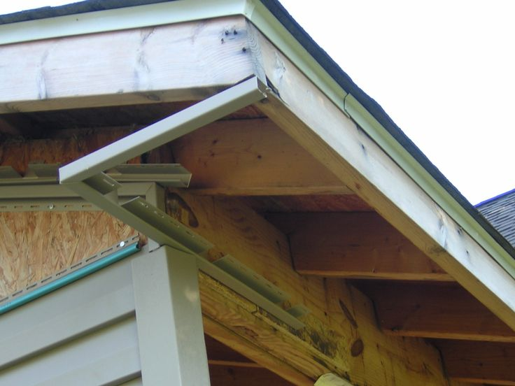 25 best ideas about vinyl soffit on pinterest kitchen for Box gable roof