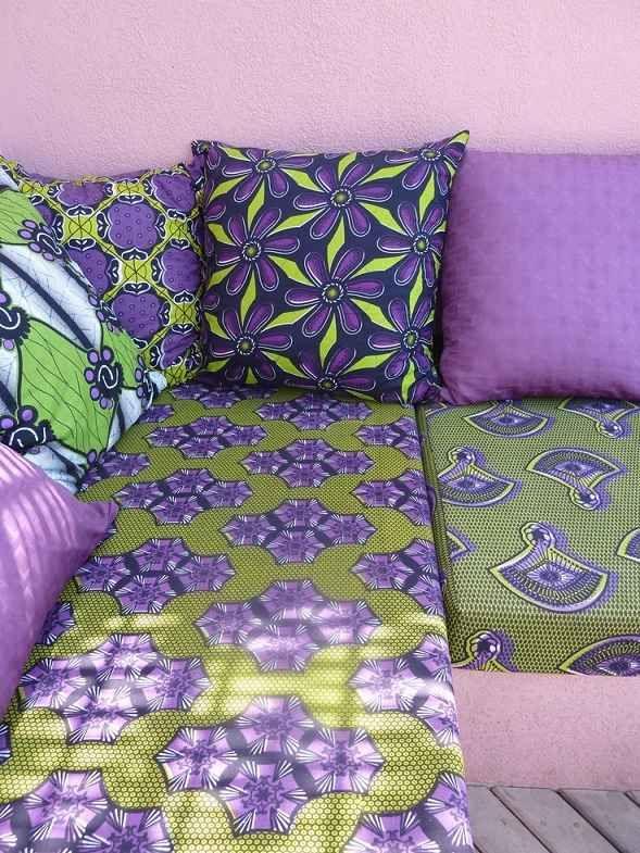 maison chic cozy color rideau tissu wax coton - Maison Colore Rideaux