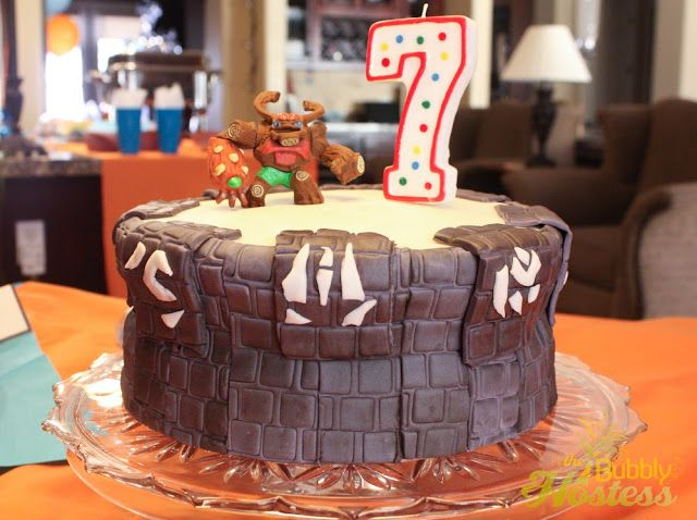 How to Build a Skylanders Portal of Power Birthday Cake | The Bubbly Hostess.  Use for ideas with fondant.  Step by step!