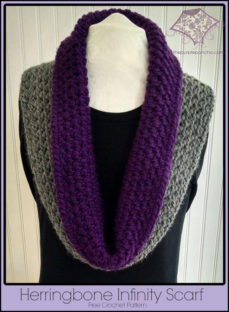 Herringbone Infinity Scarf Knitting Pattern : Herringbone Infinity Scarf Free Crochet Pattern - The ...