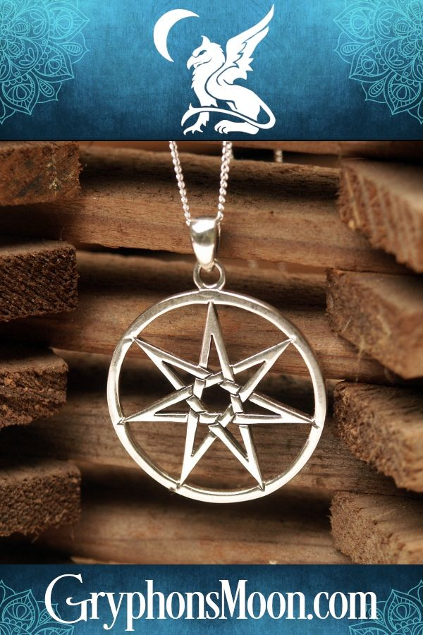 Fae Fairy Moon Pendant Silver Necklace On 16 Inch Chain Wicca Pagan Witch