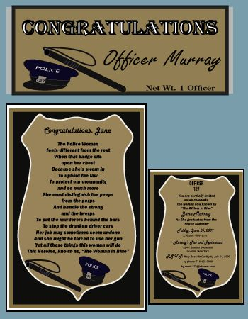police retirement party decorations | Police theme graduation party supplies|Graduation party supplies