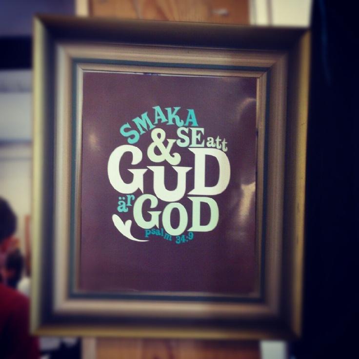Grafiskt tryck: Smaka och se att Gud är god