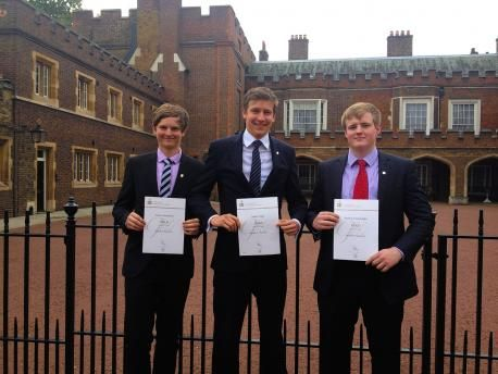 Andrew Rennie, Stephen Wright and Matthew Ralph.... Three former Aldenham School pupils got the royal seal of approval when they received their gold Duke of Edinburgh award from Prince Philip....Prince Philip attended the 500th Duke of Edinburgh gold award presentation ceremony at St James's Palace on Thursday, October 10, after founding the awards in 1956.                                                                                  ...