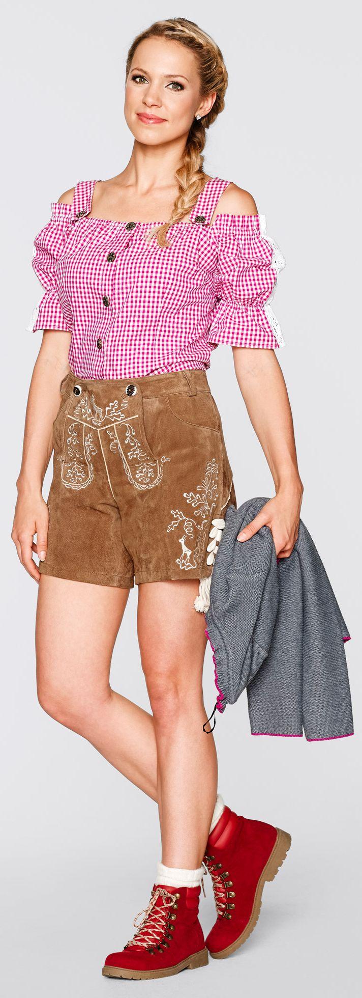 Coole braune #Shorts von bpy bonprix collection. Diese #Trachtenhose ist perfekt für das nächste Volksfest geeignet. Besonders schön zu #Bluse und #Boots. <3 ab 79,99 €