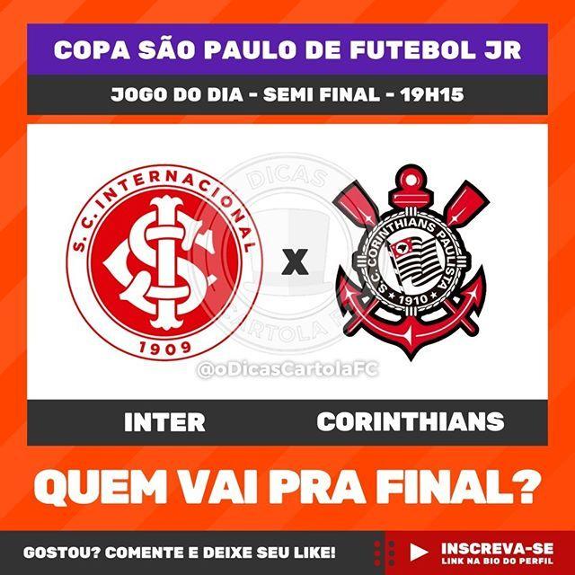 Internacional E Corinthians Entram Em Campo Hoje Para Definir Quem Sera O 1º Finalista Da Copinha Comente Qual Globo Esporte Futebol Brasileiro Copa Sao Paulo