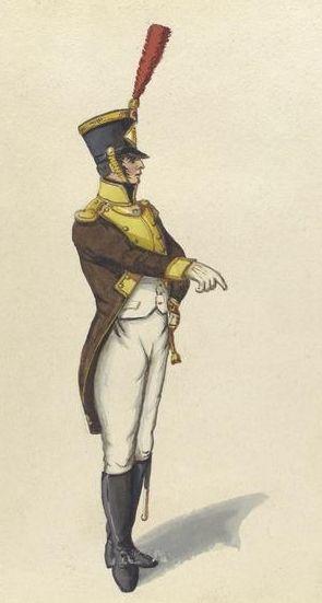 5º Regimiento de Infanteria de Línea Granada. Oficial de Granaderos