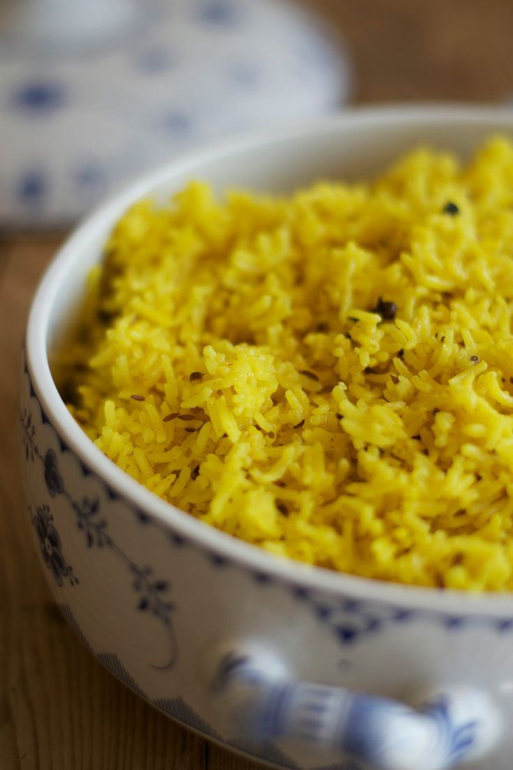 rice with Indian spices