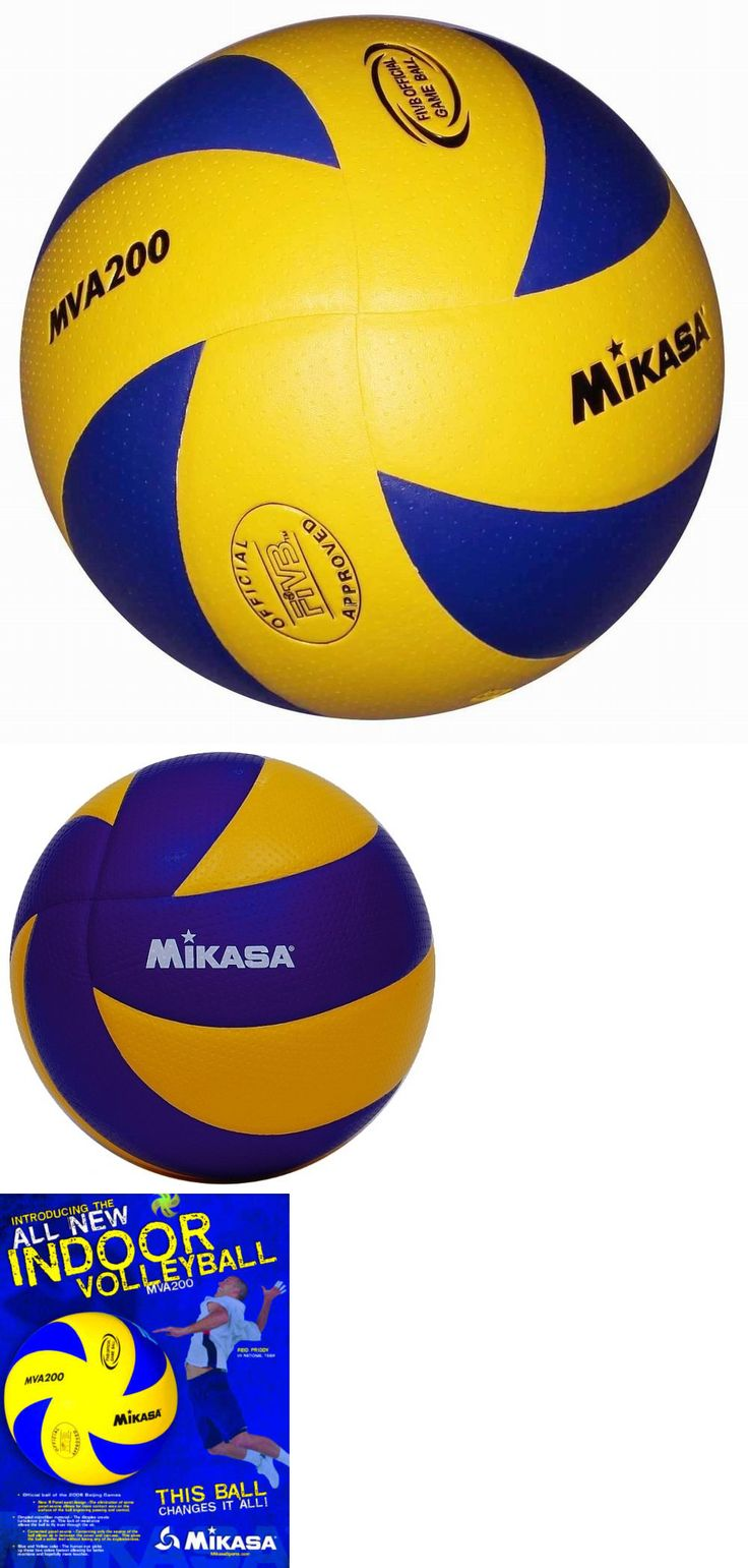 Volleyballs 159132: New Mikasa Mva200 2016 Rio Olympic Volleyball Official Game Ball (Blue/Yellow) -> BUY IT NOW ONLY: $56.1 on eBay!