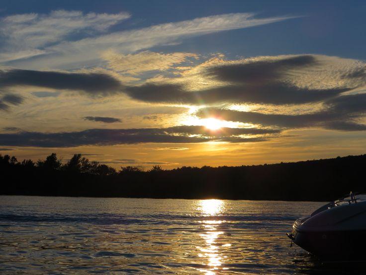 couché de soleil au lac joseph