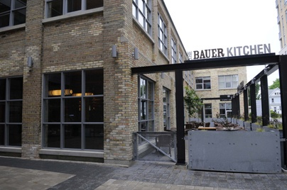 The Bauer Kitchen  http://www.charcoalgroup.ca/main8.cfm  187 King Street South, Waterloo