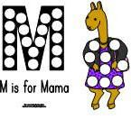 Magnet Page  for the book Llama, Llama Misses Mama from Making Learning Fun.