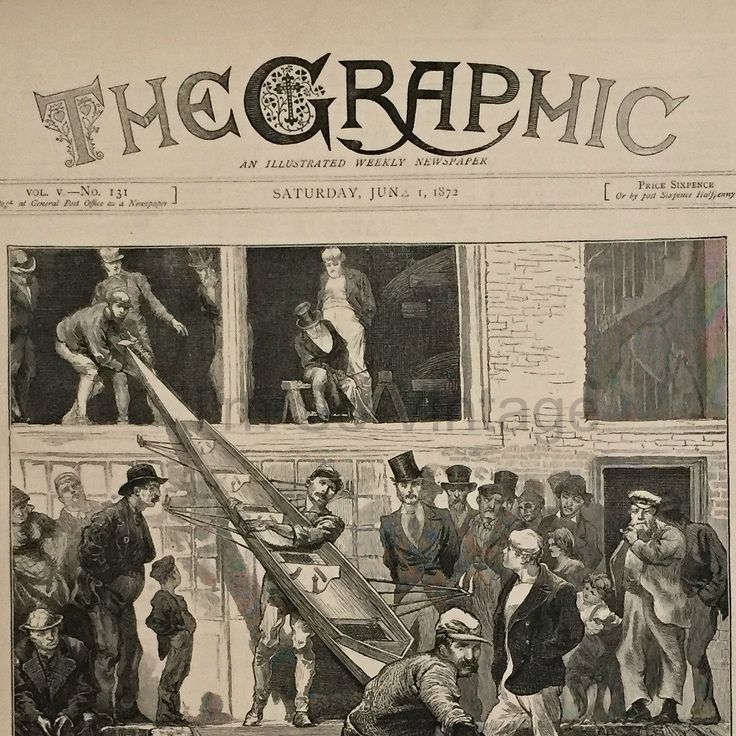 Antique Victorian Newspaper Cover. The Graphic, dated June 1, 1872. International Boat Race by ImSoVintage on Etsy