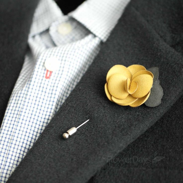 Gorgeous And Beautiful Suede Men S Flower Boutonniere Onhole For Wedding Lapel Pin Tie Pinhandmade In Our Studio Great Quality Stick With