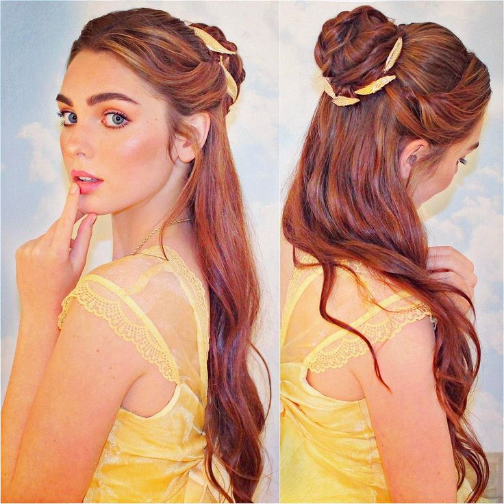 "3,708 Likes, 44 Comments - Jackie Wyers (@jackiewyers) on Instagram: ""My @emmawatson as #belle from @beautyandthebeast soft makeup & half up hairstyle  what do you…"""