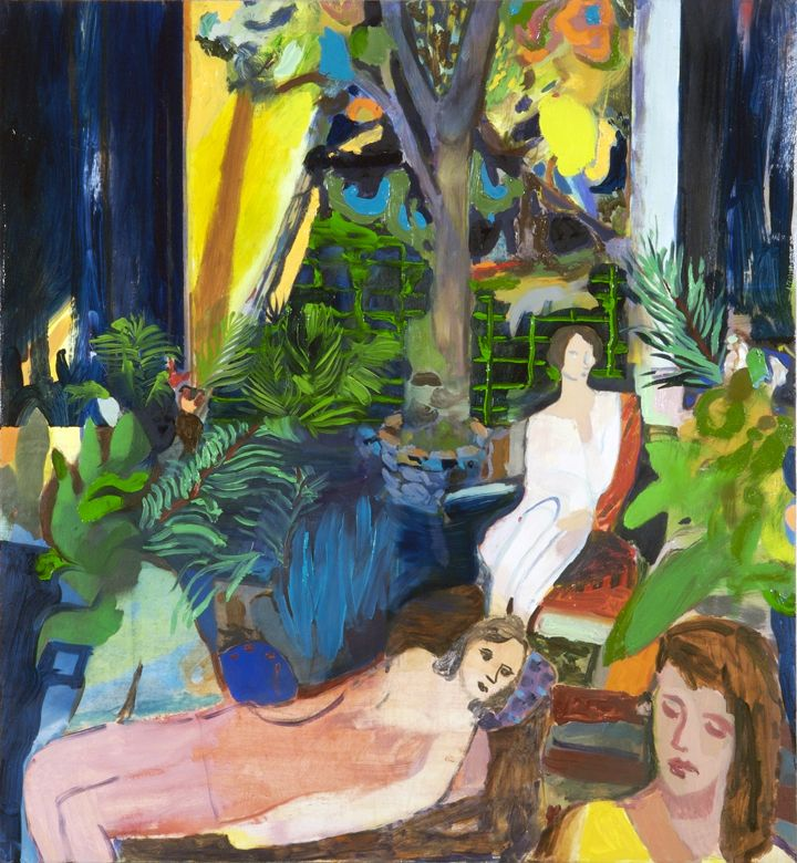Jackie Gendel, Parlor, 2009. Oil on canvas, 26 x 24 inches