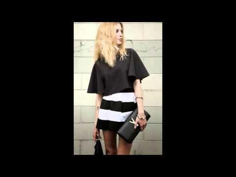 crop top e gonna black&white. tutto Cvg moda