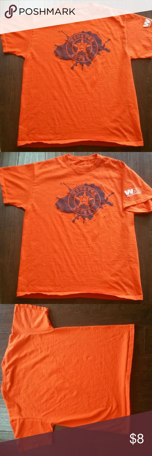 Houston Astros T Shirt Orange Houston Astros T Shirt in great condition. Shirts Tees - Short Sleeve