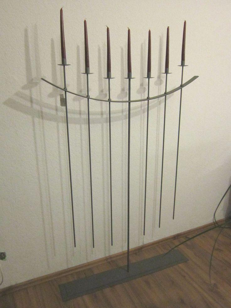 Kandelaber/ 7 flammiger Kerzenständer- groß/ aus Metall/ Farbe anthrazit    eBay