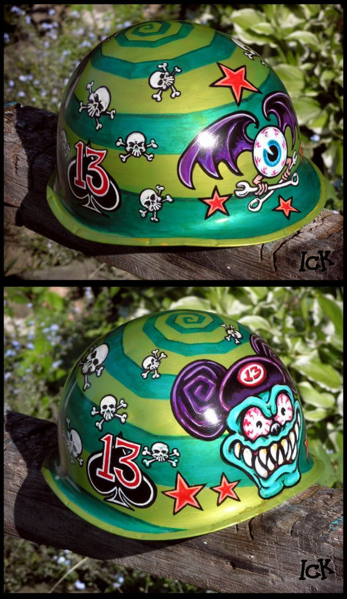 custom paint german motorcycle helmet