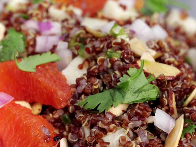 Scallops with citrus and quinoa recipe quinoa quinoa dishes red quinoa and citrus salad forumfinder Images
