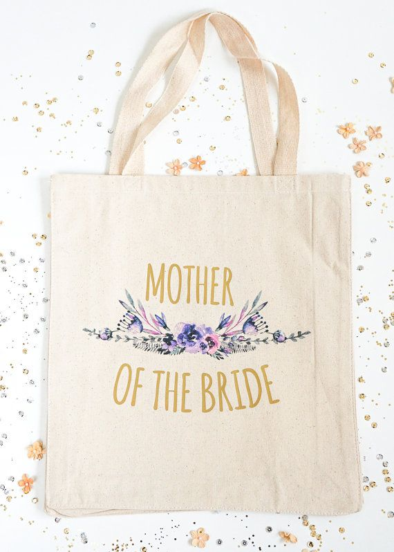 Mother of the Bride Gift Bag Bridal Party Totes by LaLaConfetti