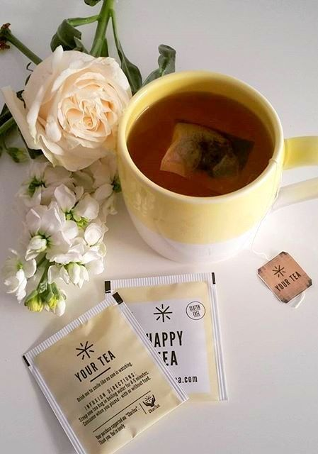 happy tea by your tea has a very calming effect on the body - great for your big day!
