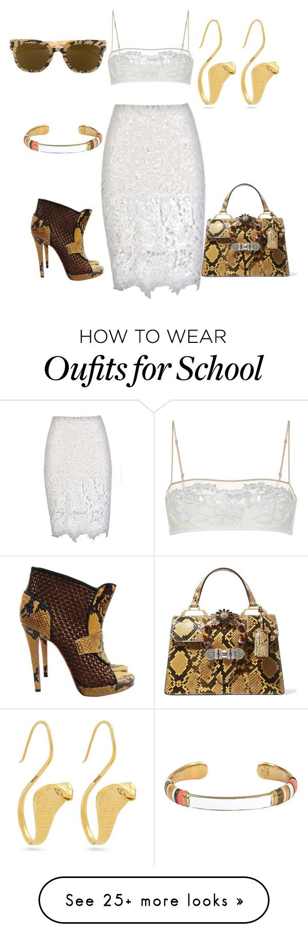 """Untitled #176"" by esha2232 on Polyvore featuring Gas Bijoux, Viktor & Rolf, Miu Miu and Mykita"