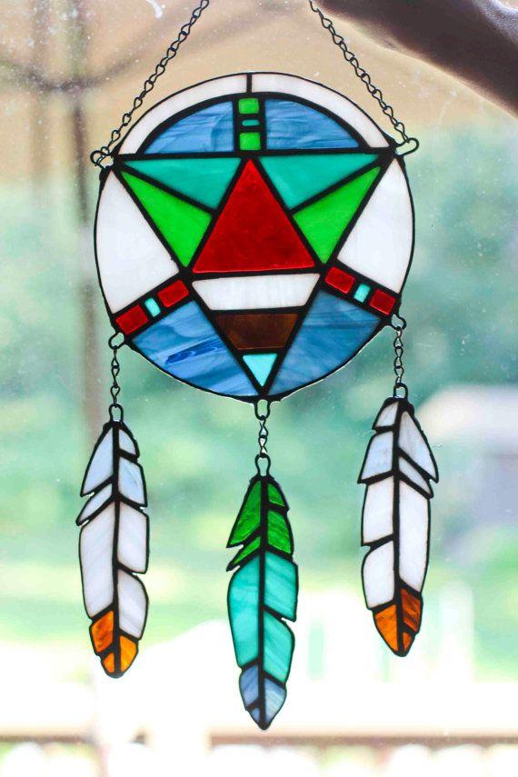 Stained Glass Dream Catcher by WildWindChildART