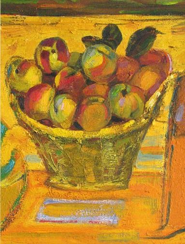 Robin Philipson    Basket of Peaches    20th century