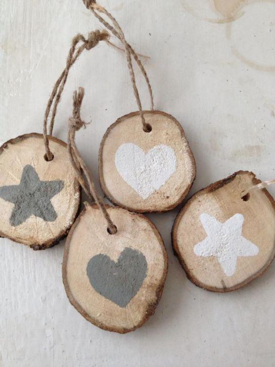 ≥ Houten hangers van boomstam / houten kersthangers - Woonaccessoires   Overige - Marktplaats.nl