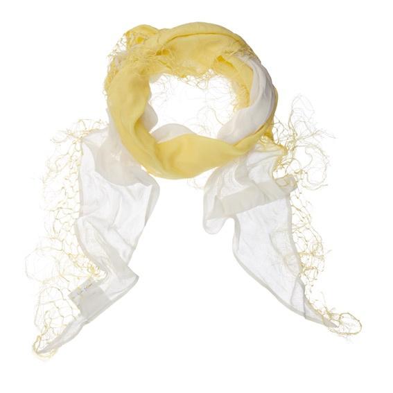 White & yellow scarve