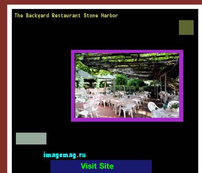 The Backyard Restaurant Stone Harbor 121414 - The Best Image Search