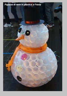 Natale: come fare un Frosty o pupazzo di neve Tutorial con i bicchieri - NOTIZIE IN VETRINA Magazine M.M.