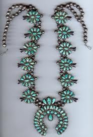 squash blossom turquoise necklace, one day...