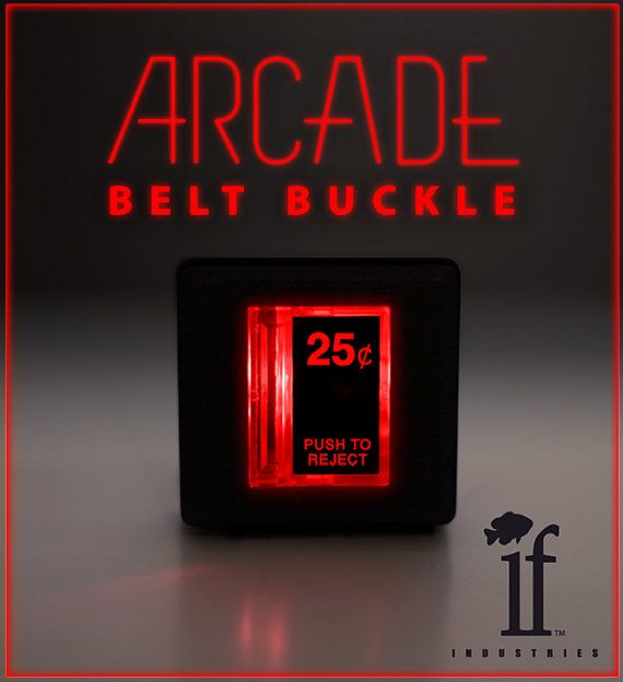 If Industries has created a light-up arcade belt buckle inspired by the coin slots on classic arcade games. The buckle is made from authentic arcade parts from theWells Gardner/Coin Controlscompa...