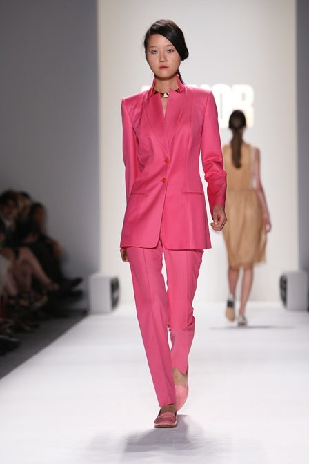 Unexpected But Potentially Fun Office Attire Outfit Idea: Spring 2012's Pink Suits: Dressed