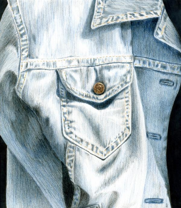 Drawing Of Denim Jacket