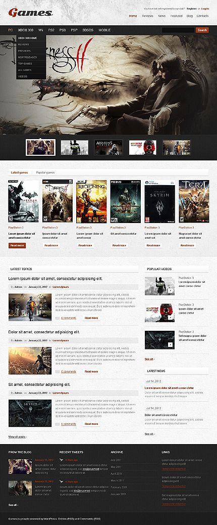 Games Game WordPress Themes by Mercury
