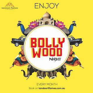 Social media post design for Tandoori Flames restaurant.  #SocialMedia GraphicDesign #Facebook #Instagram #Bollywood