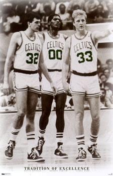 Kevin McHale, Robert Parish and Larry Bird.  The original 'Big Three' in the NBA.