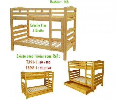 les 25 meilleures id es de la cat gorie lits superpos s en bois massif sur pinterest lit. Black Bedroom Furniture Sets. Home Design Ideas
