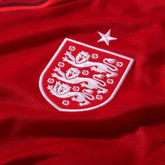 The new England 2012 goalkeeper shirt, inspired by the St George's flag, Tailored by Umbro.